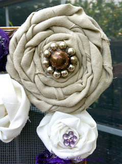 floral rosettes with vintage jewelry