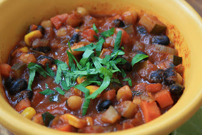 vegetarian chili with black beans and beer