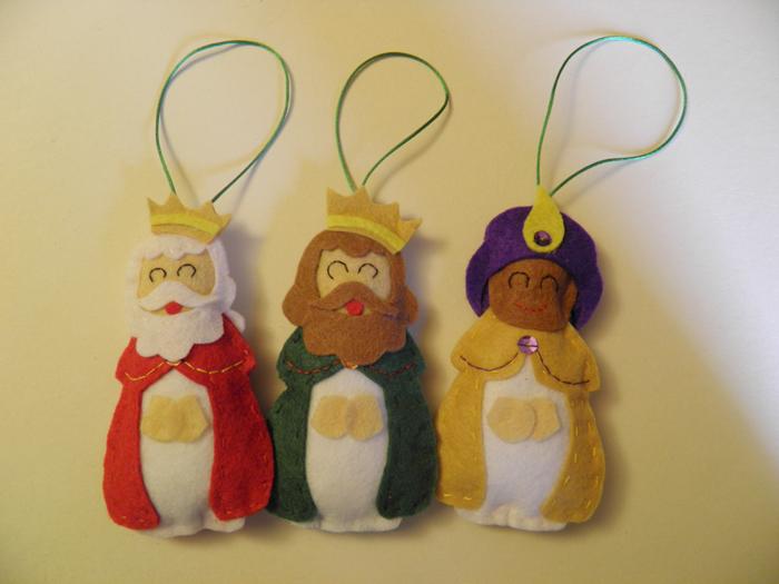 Cajita de fieltro adornos de navidad - Adornos de navidad hechos a mano ...