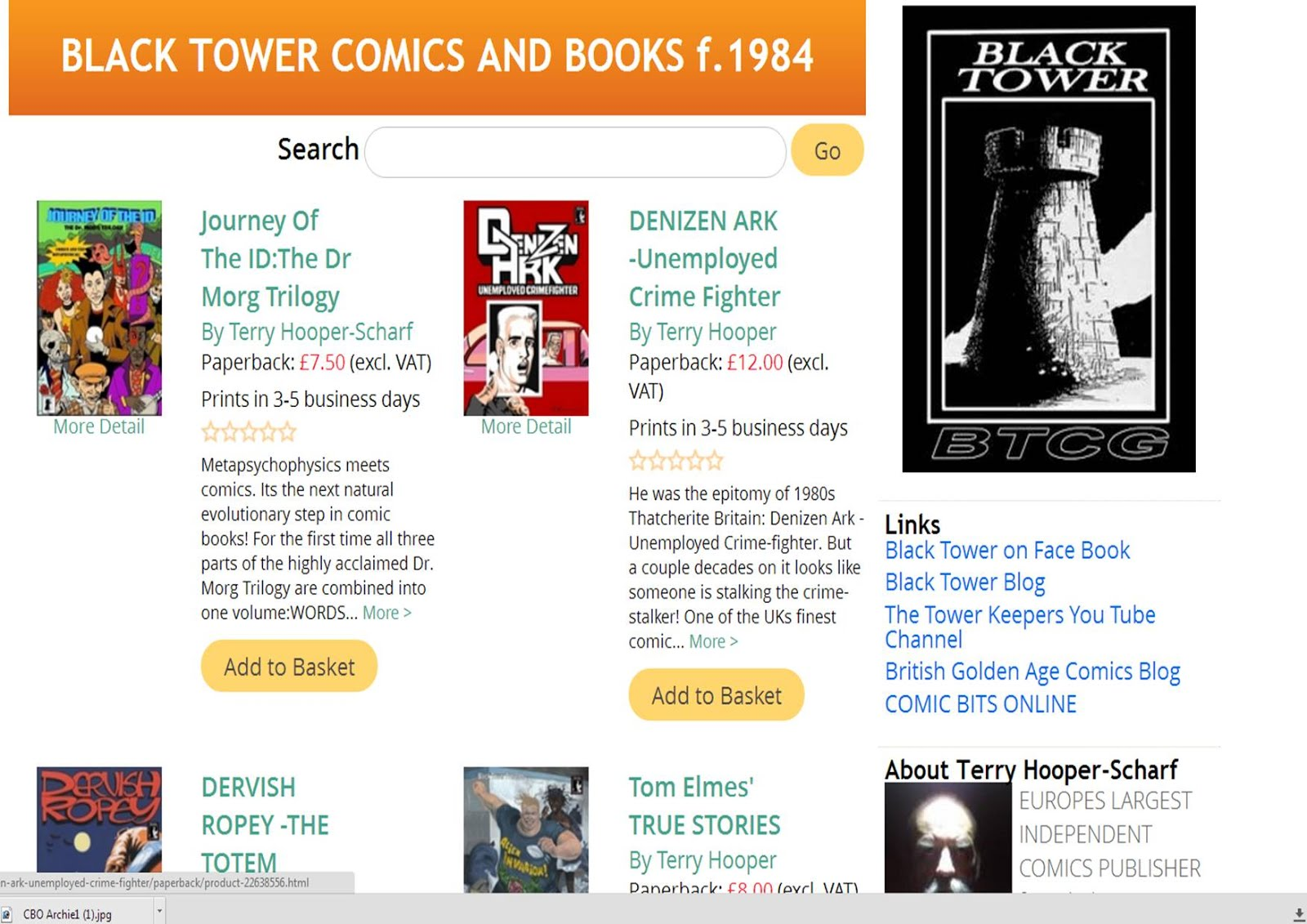 Black Tower Comics & Books Online Store