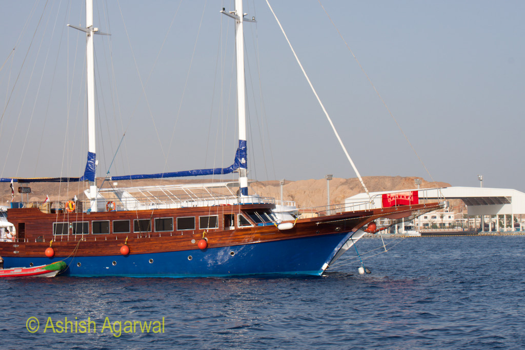 One of the older style ships in the Sharm el Sheikh harbor