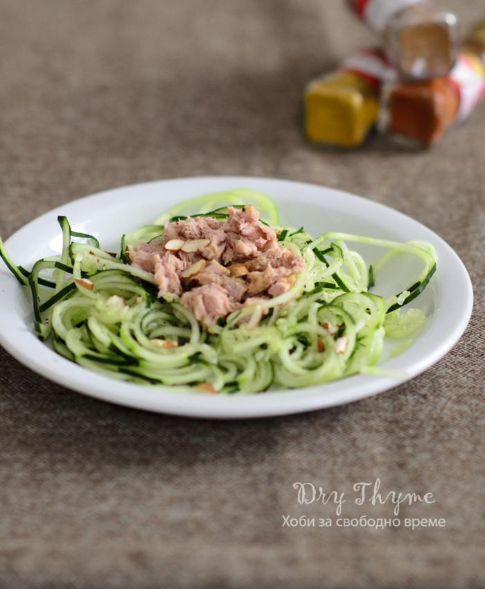 спагети от краставици