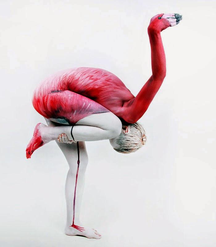 animales con pintura corporal