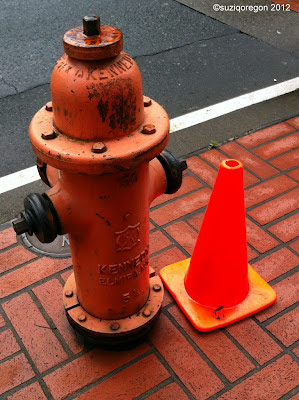 hydrant and cone