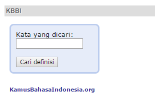 Memasang KBBI Pada Sidebar Blogger