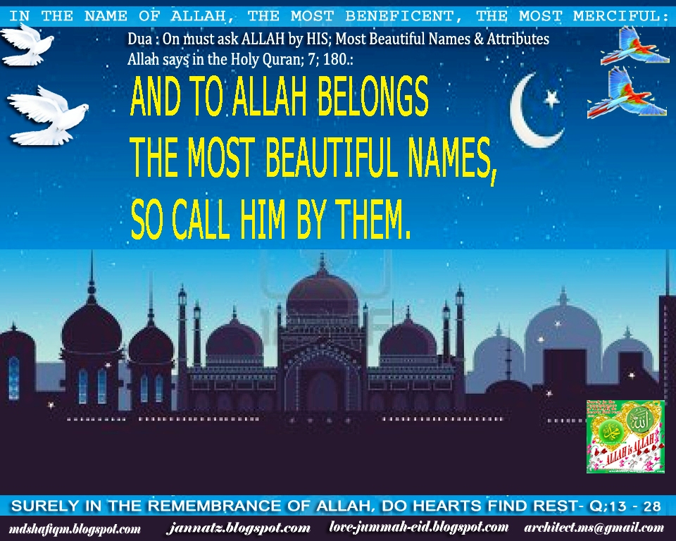names and attributes of allah pdf