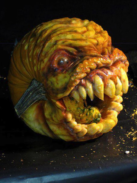Cool pumpkin carving ideas theme zombie