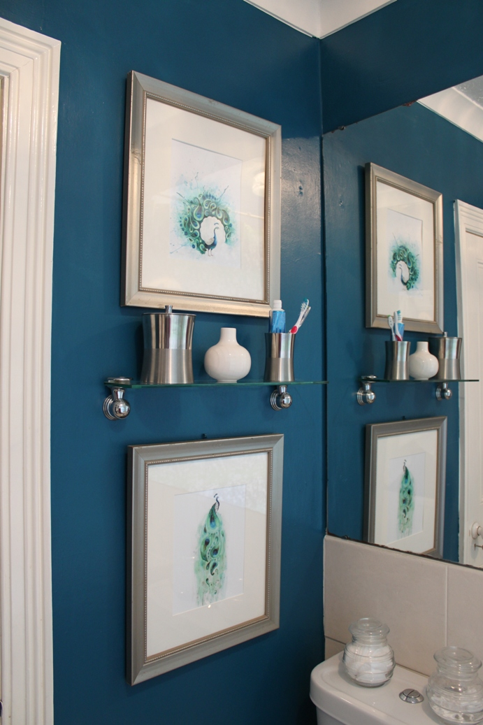 The transformative power of paint peacock blue bathroom for Bathroom color ideas blue