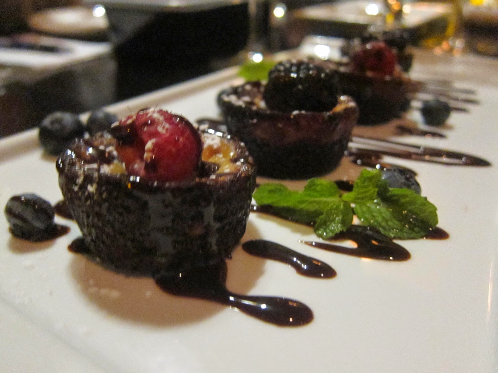 Mini Black Bottom Cheesecakes at Orta | The Economical Eater