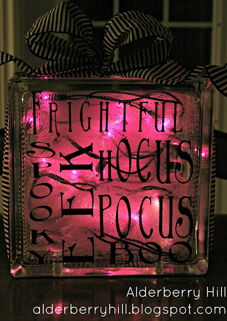 blogpm055 Halloween Glass Blocks with Lights