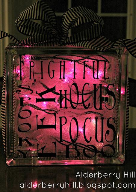 blogpm055 Halloween Glass Blocks with Lights