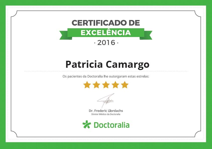 Certificado de Excelência Doctoralia 2016