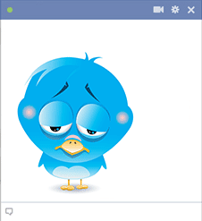 Bird is sad icon