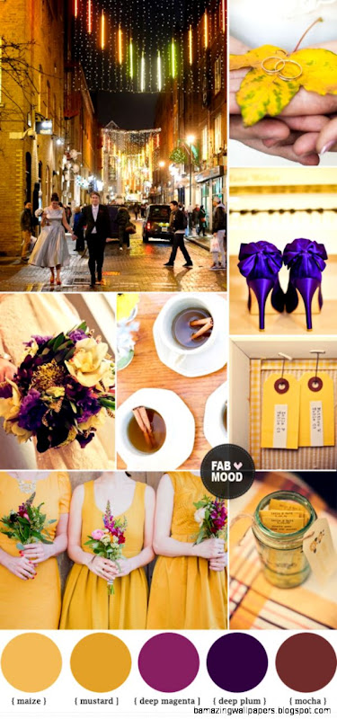 Autumn Wedding Colors purple Autumn wedding color palette