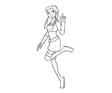 #9 Starfire Coloring Page