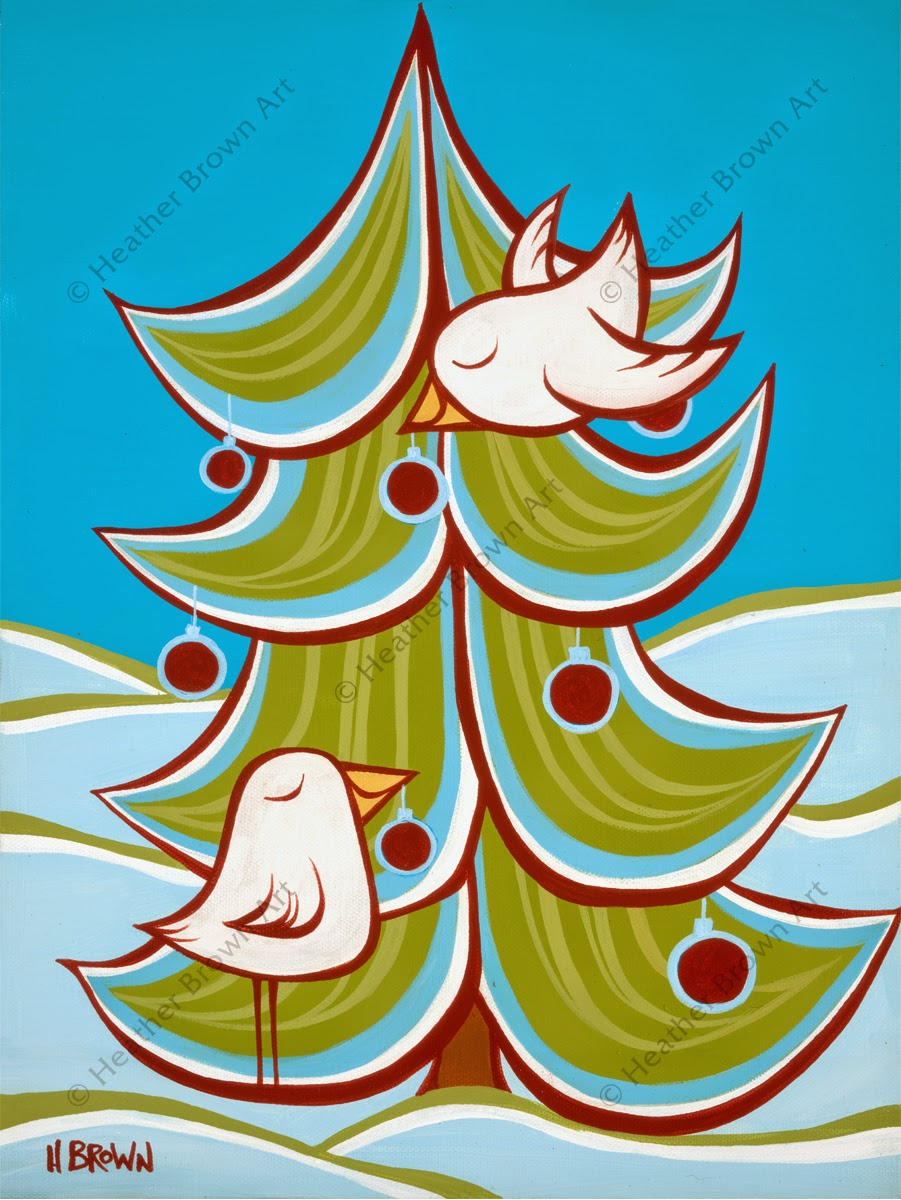 surf art christmas