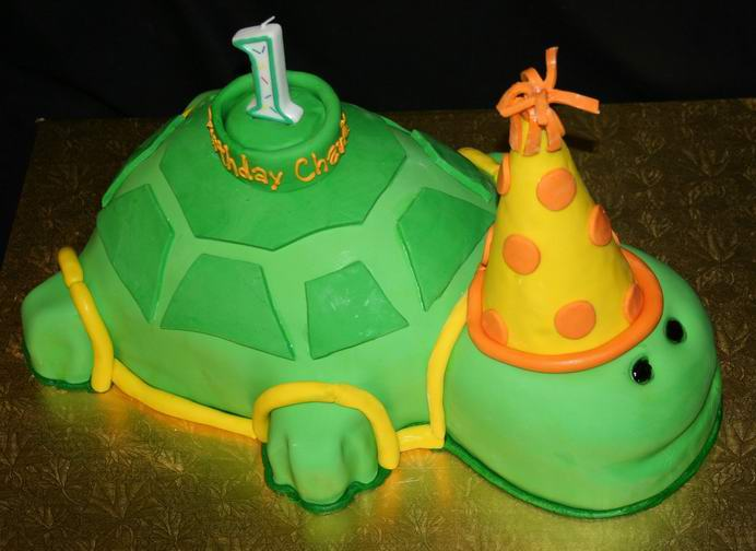 Cake Place First Birthday Turtle Cake