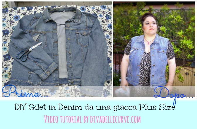 gilet denim plus size diy
