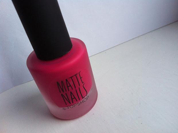 topshop matte nails polish
