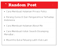 Cara Membuat Widget Random Post Simple