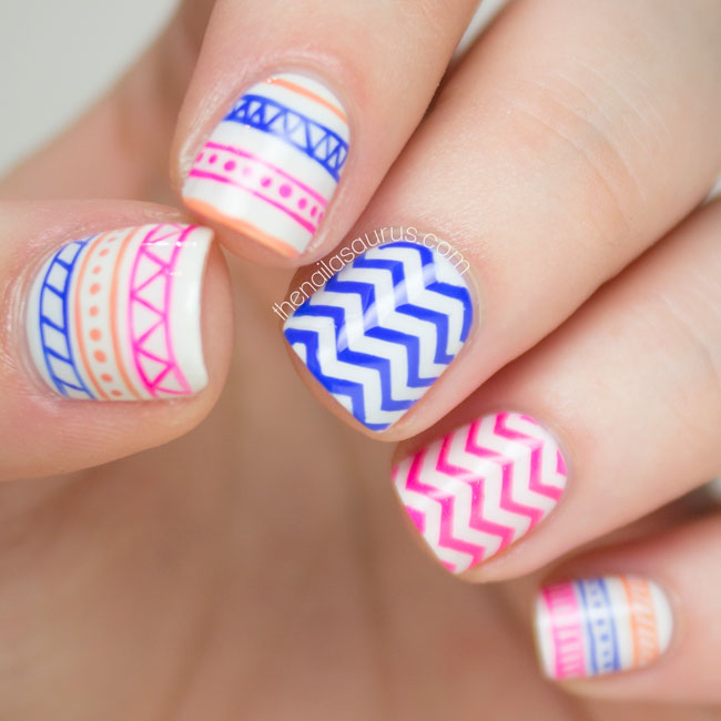 Tribal Nail Art // Freehand