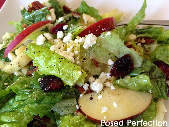 Cran-Apple Feta Salad with Maple Dijon Vinaigrette