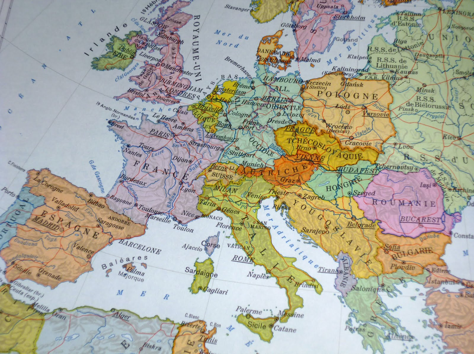 Cartes Postales June 2011 – Travel Map Where I Ve Been