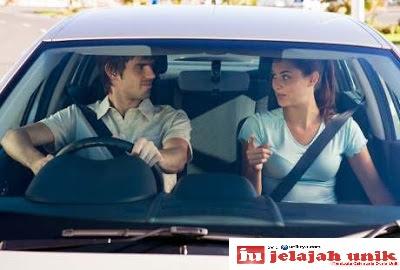 Men and women driving