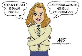 Lorenzin, sanità, esami inutili, spesa sanitaria, satira vignetta