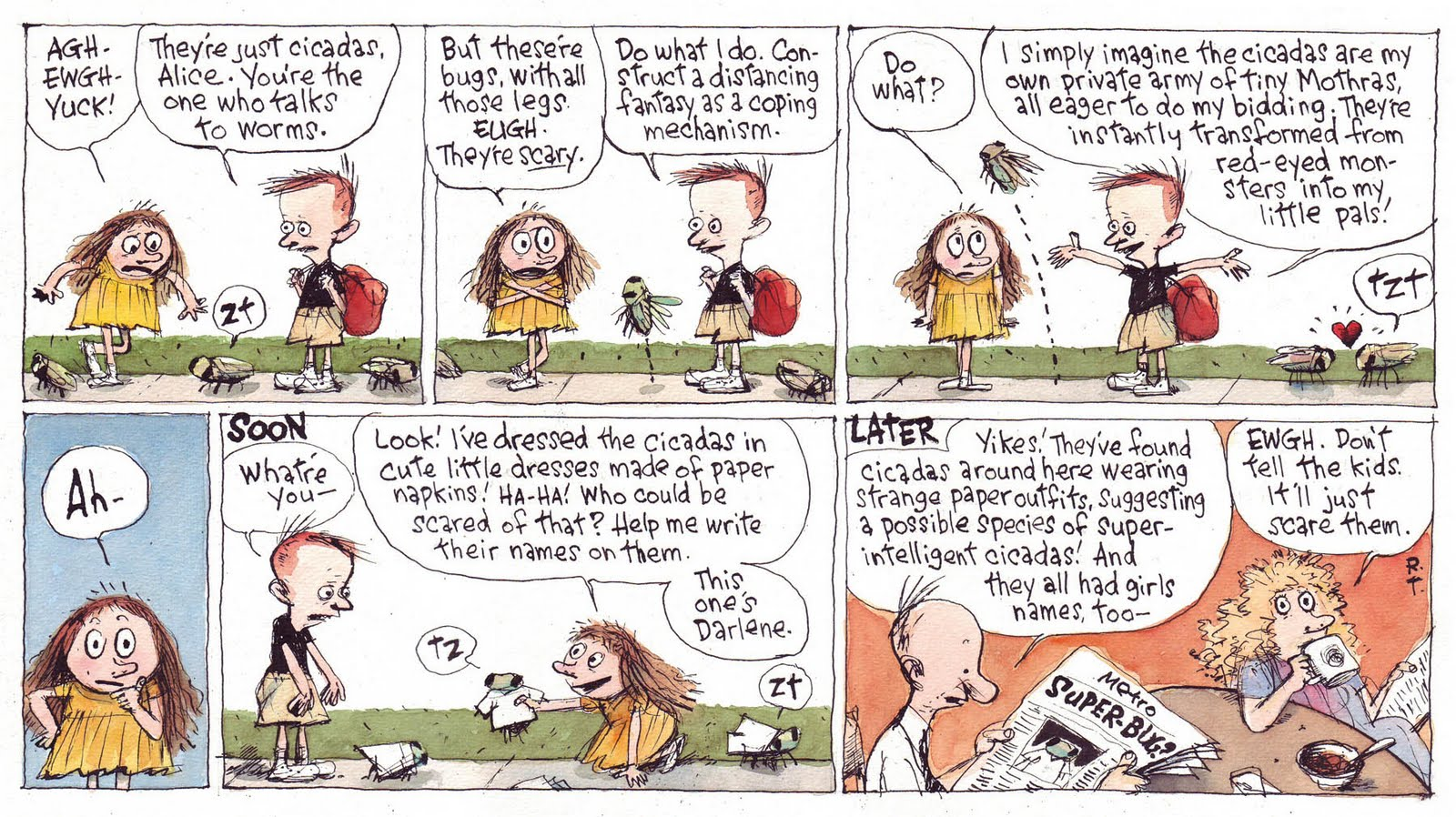 Cul De Sac Comic Strip
