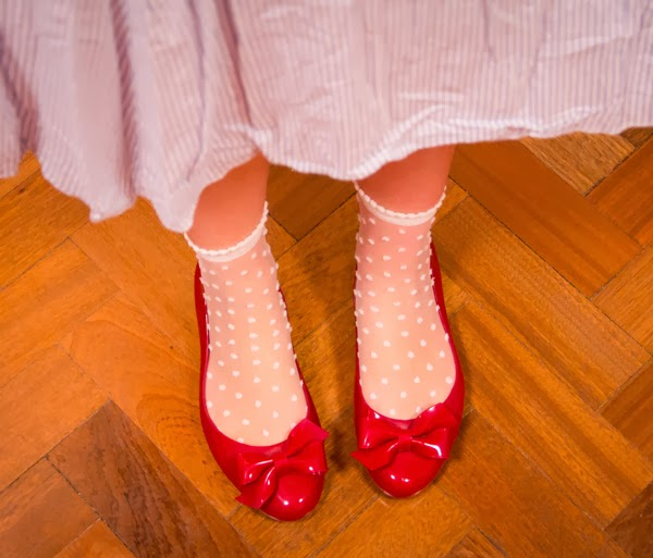DIY Halloween fancy dress costume ideas: Judy Garland as Dorothy Gale's red shoes from Wizard of Oz