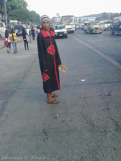 Barker in Metro Manila in Naruto costume