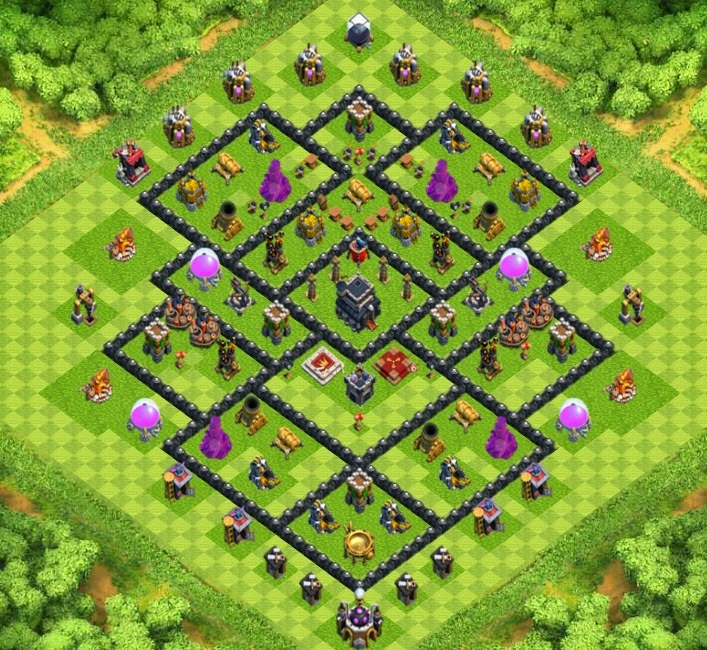 Wartrophy base town hall 9 designs with air sweeper clash of wartrophy base town hall 9 designs with air sweeper clash of clans sciox Choice Image