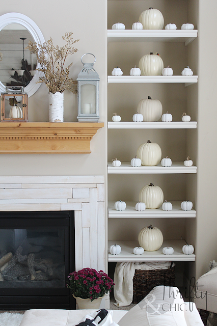 Fall decorating ideas for shelves