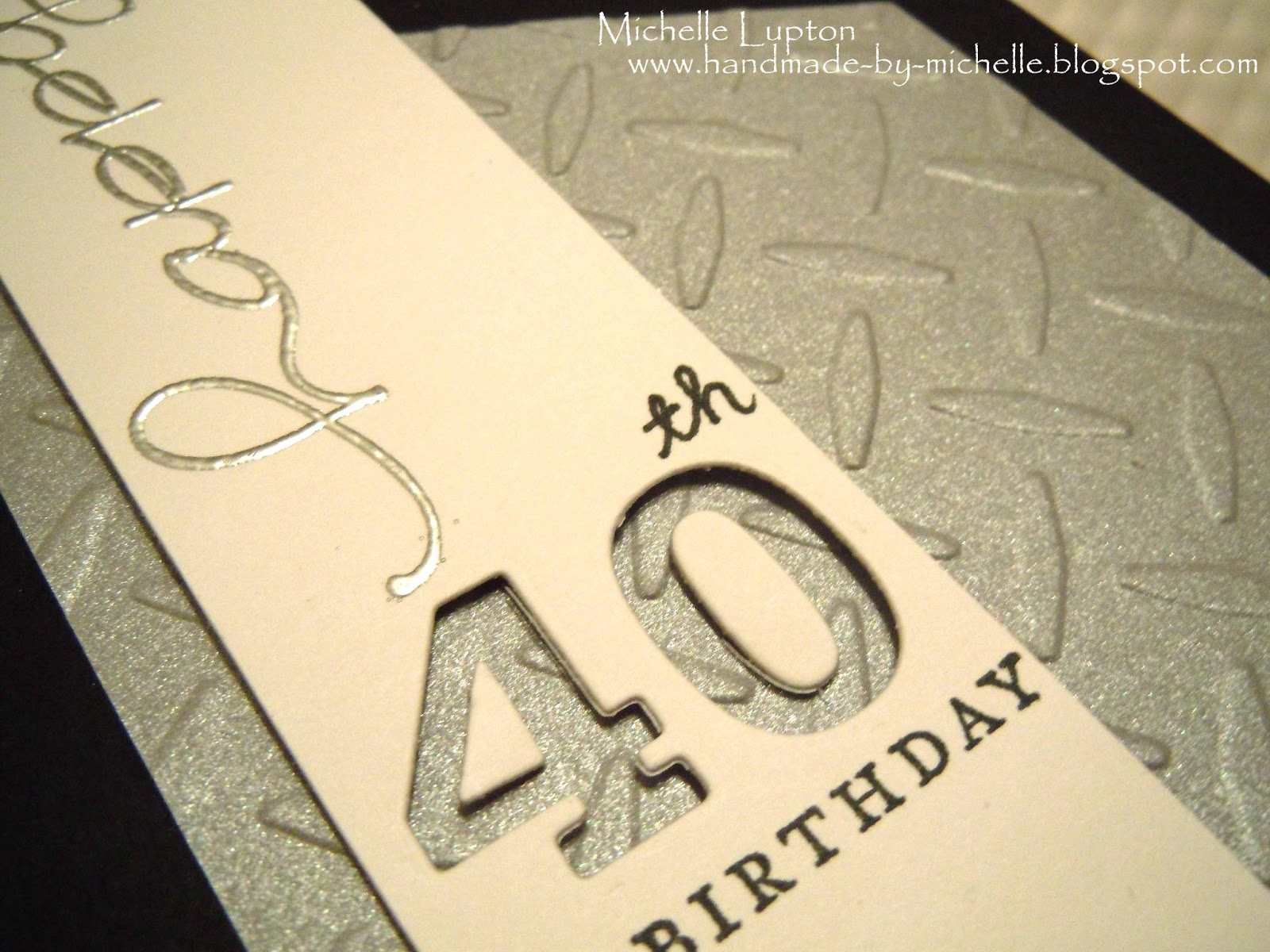 Handmade by michelle masculine card for 40th birthday masculine card for 40th birthday bookmarktalkfo Gallery