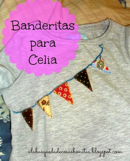 Camiseta para niña con banderas