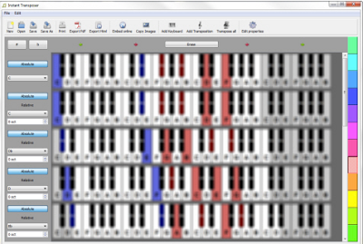 Instant Transposer Software