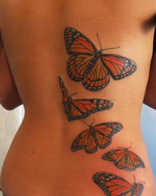 mariposas espalda