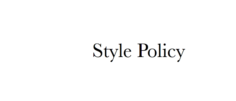 Style Policy - An Australian Style Blog