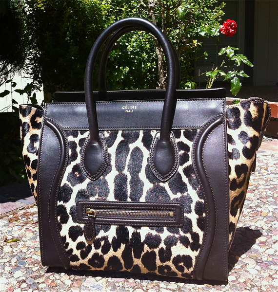 The Celine Mini Luggage Tote in Ponyhair Leopard Print! | The Bag ...