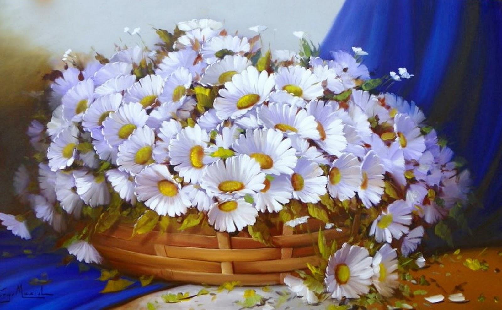 Cuadros modernos pinturas y dibujos cuadros de flores - Cuadros faciles de copiar ...
