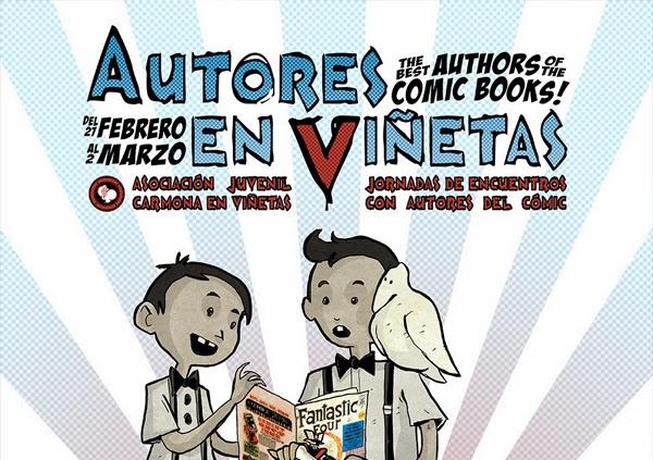 cartel v autores en viñetas