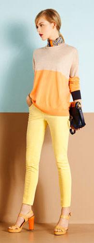 pantalones color mujer
