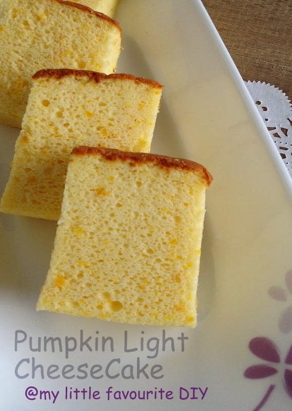 ... favourite DIY: Pumpkin Light CheeseCake (南瓜轻乳酪蛋糕