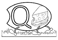 Alfabeto centopeia letra Q