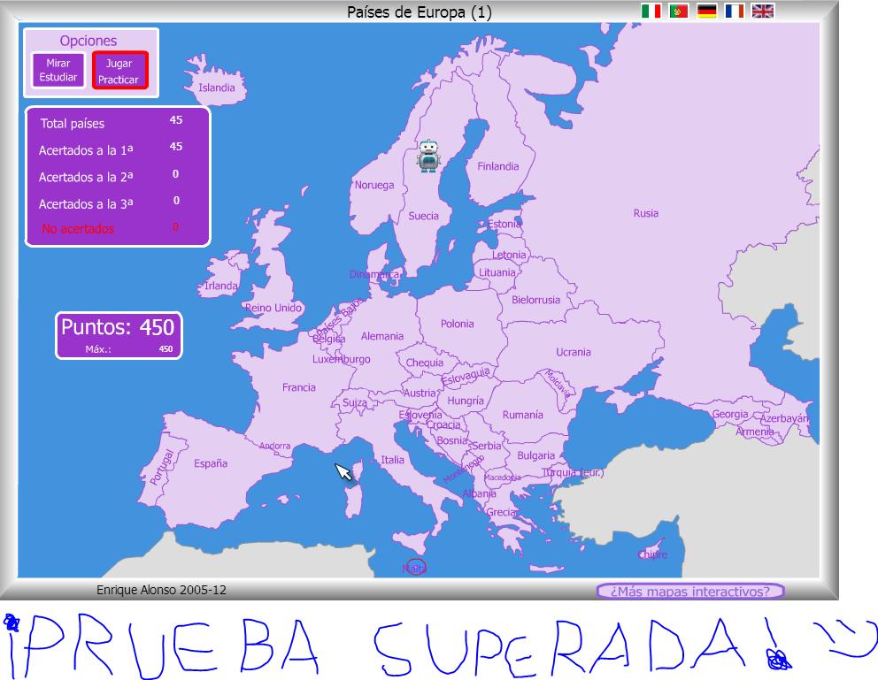 ADRINCLUSIVO Mapa Flash Interactivo  Pases de Europa