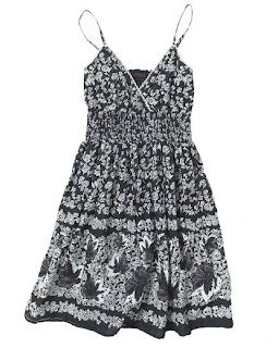 Black and white floral print plus size dress