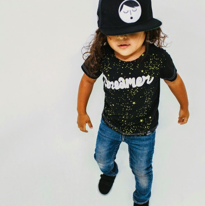 "Tiny Whales: kids tee ""DREAMER, HEATHER """