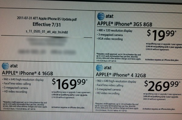 Target  Radio Shack Lower ATT iPhone 4, iPhone 3GS Prices