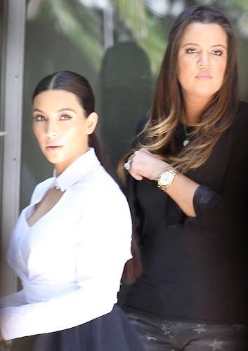 Kim and Khloe Kardashian Visit Caskets Factory pics